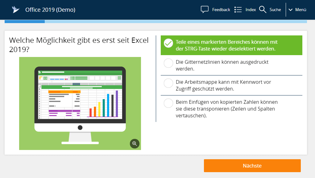 Microsoft Excels 2019 Kurs und Microlearning